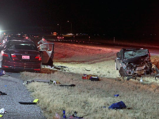 Two people died in a head-on collision Thursday night