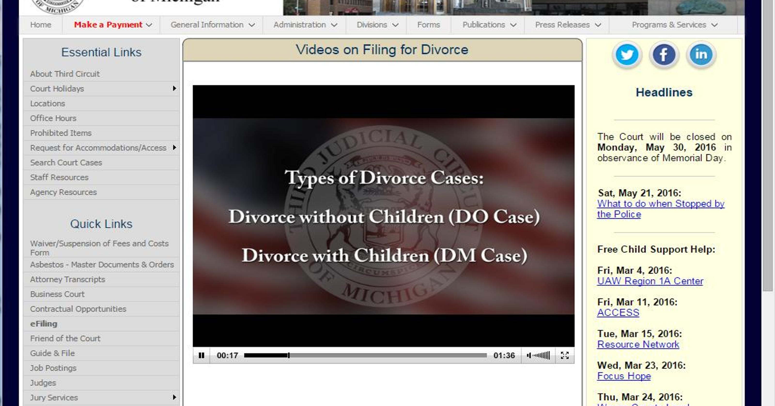 Wayne court video takes mystery out of filing for divorce solutioingenieria Gallery