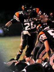 Jordan Leasure was a standout running back for Amanda-Clearcreek, rushing for more than 3,000 yards for the Aces. He was also a four-time state qualifier in wrestling and a two-time state qualifier in the hurdles.
