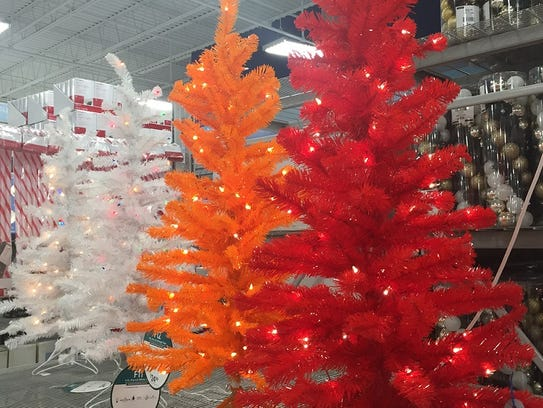 Some of the artificial trees in Cherry Hill's At Home