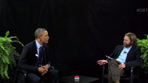 """President Obama used his appearance on """"Between Two Ferns"""" to encourage young people to sign up for health insurance before a key deadline on March 31."""