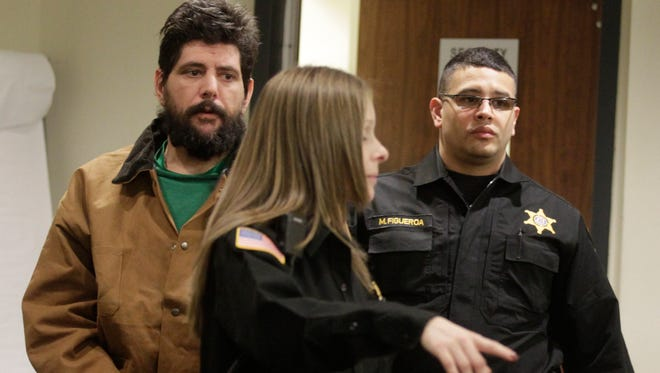 Vito Nigro is arraigned for the murder of his wife, Giorgina Cimino Nigro, before Superior Court Judge Dennis Nieves in New Brunswick, on Friday, Jan. 22, 2016. Cimino Nigro was bludgeoned to death in her home, allegedly by Vito.