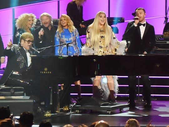 NEW YORK, NY - JANUARY 30:  Elton John performs onstage