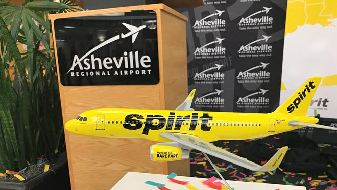 Spirit Airlines plans to add service to the Asheville Regional Airport starting in September. Flights from Spirit will travel to Fort Lauderdale, Orlando and Tampa.