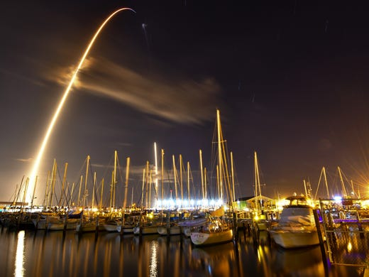 A SpaceX Falcon 9 rocket with the government