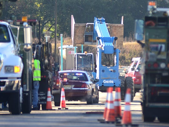 A worker was injured after being run over by a forklift