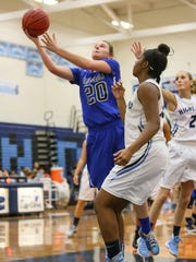 Hammonton's McKenna Forry drives to the basket during