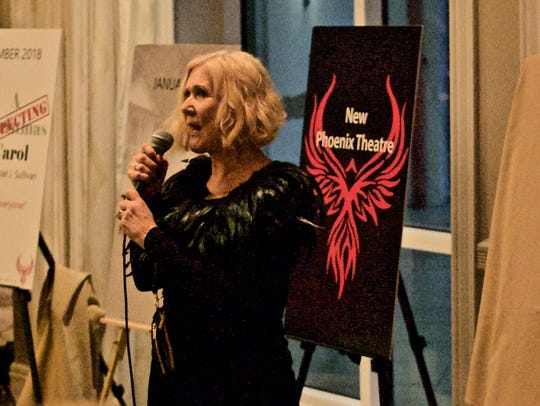 Co-founder Brenda Kensler discusses New Phoenix Theatre's inaugural season at an invitation-only unveiling in 2018.