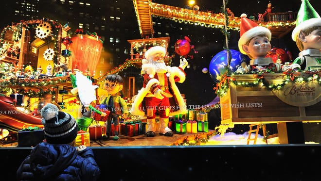 Macy's Herald Square unveils its Christmas window displays on Nov. 20, 2014, in New York City.
