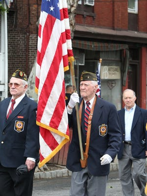 Piermont VFW Post 7462 members march during the Memorial Day parade in Piermont May 30, 2016.