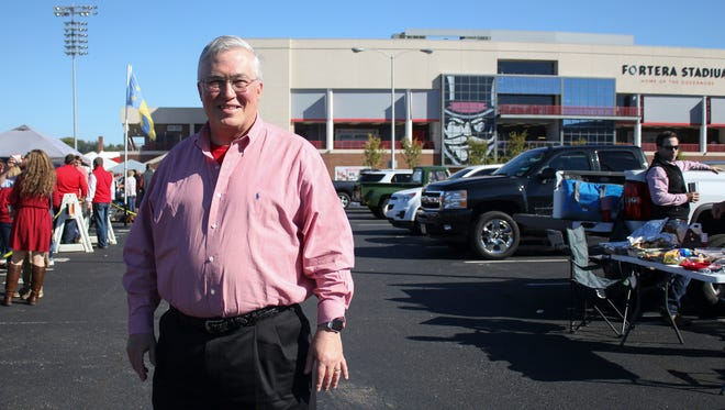 Former Austin Peay president Tim Hall returns to Austin Peay for homecoming on Saturday and saw the result of the stadium renovation project he began in 2013.