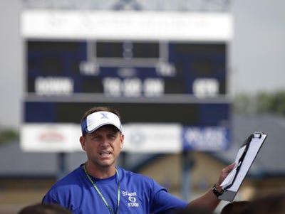 Steve Specht is starting his 12th year as St. Xavier head football coach.