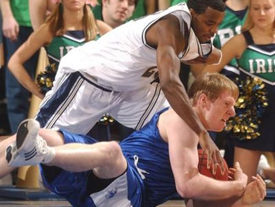 Grant Billmeier (in blue) was a loose-ball king at