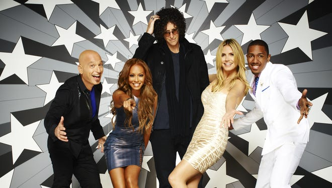 """The """"American's Got Talent"""" cast (from left, Howie Mandel, Mel B, Howard Stern, Heidi Klum and Nick Cannon) won't be in Indianapolis for the show's auditions -- but hopefuls are striving for the chance to perform in front of the celebrities."""