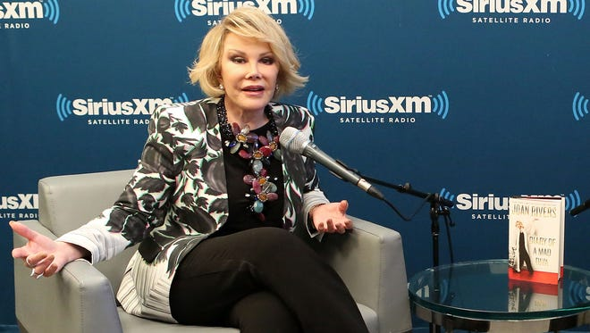 NEW YORK, NY - JUNE 30:  SiriusXM's Unmasked Special With Joan Rivers at SiriusXM on June 30, 2014 in New York City.  (Photo by Robin Marchant/Getty Images for Sirius XM)