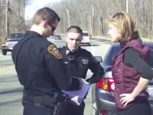 Tenafly officers speak with Caren Turner2