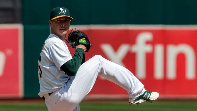 Scott Kazmir shut out his former team into the eighth inning.