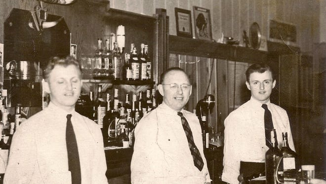 From left, Stan Nowrocki, Charles Nowrocki and Vic Nowrocki are seen in this circa 1940s photo at the former Joseph Avenue location of Hedges.