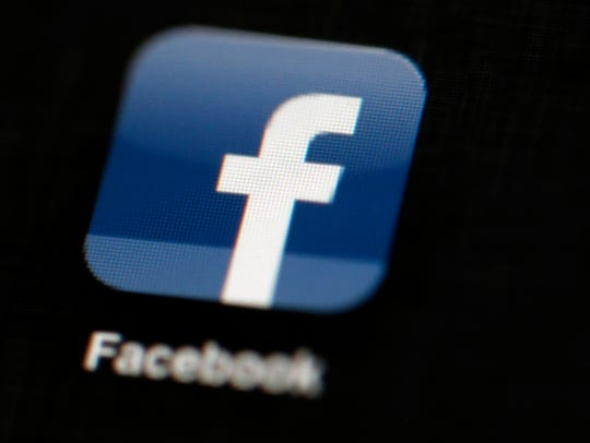 In this May 16, 2012, file photo, the Facebook logo