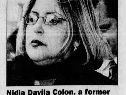 Nidia Davila-Colon was sentenced to two and a half years in prison after being convicted in June 2003 of passing more than $10,000 in bribes