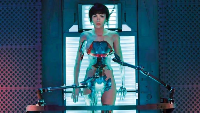 "Under the skin: Scarlett Johansson in ""Ghost in the Shell."""