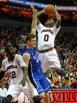 Louisville's Terry Rozier finished with 17 points, leading the Cardinals with four rebounds. But the Cardinals lost to Duke 63-52 at the KFC Yum! Center Saturday. Jan. 17, 2015 By Matt Stone, The Courier-Journal