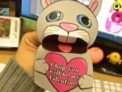 Put a fun spin on the traditional Valentine with these hand puppets.  Each one has a different message to share!