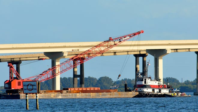 Both east and westbound lanes of traffic on the 528 bridge over the Indian River was shut down Friday morning  after  a barge struck the bridge. DOT  examined the bridge for damage before the causeway was reopened.