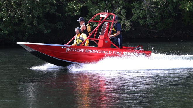 Eugene Springfield Fire's Water Rescue team responds to an incident. [Chris Pietsch/The Register-Guard file] - registerguard.com