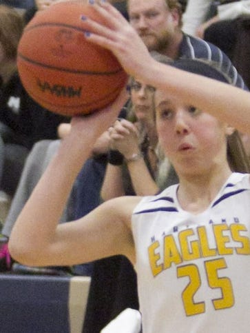 Hartland's Lexey Tobel had 26 points to lead the Eagles