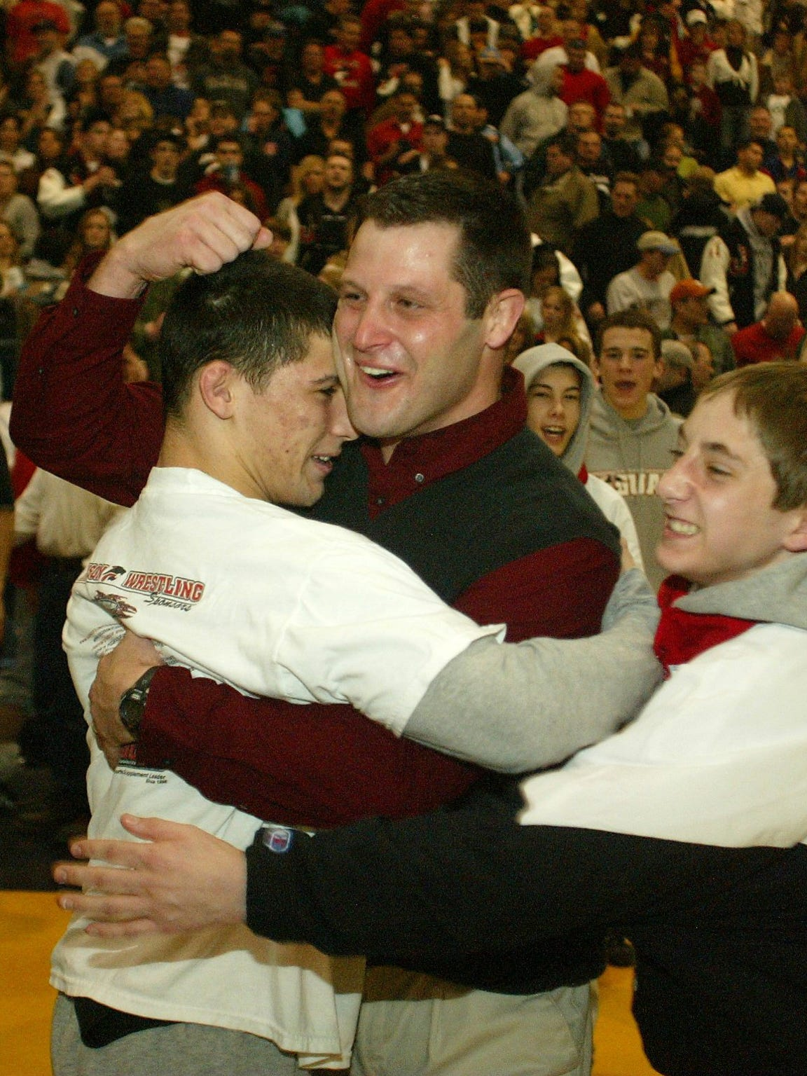 Scott Goodale and Scott Winston had many moments to celebrate together at Jackson Memorial High School before they teamed up as coach and wrestler at Rutgers.