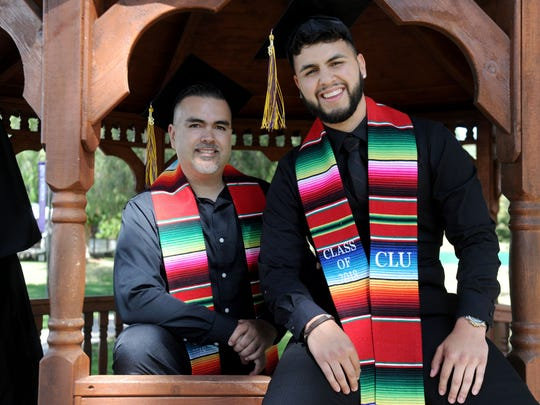 Father and son Daniel and Danny Chavez, of Oxnard, will graduate from college together on Saturday at California Lutheran University.