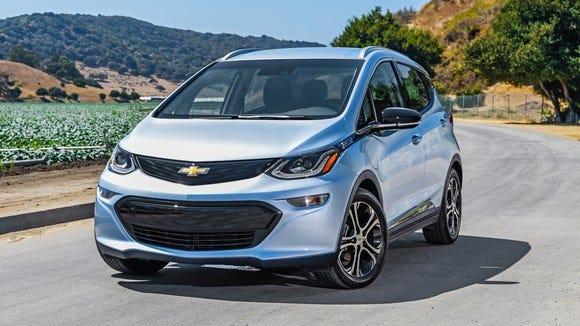 The Chevrolet Bolt electric car.