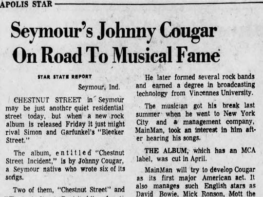 He was born John Mellencamp but became Johnny Cougar, a name he despised but agreed to for rock star promotional purposes. As his status rose, he got more real as John Cougar Mellencamp, and finally, when he became a superstar, he reverted to the totally real John Mellencamp.