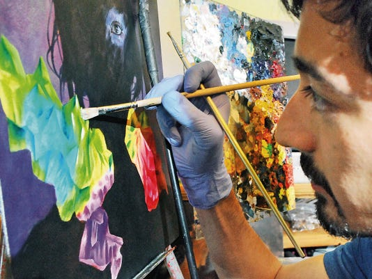 Las Cruces artist Cody Jimenez is heading to art school in California in August to pursue a master's in fine art.