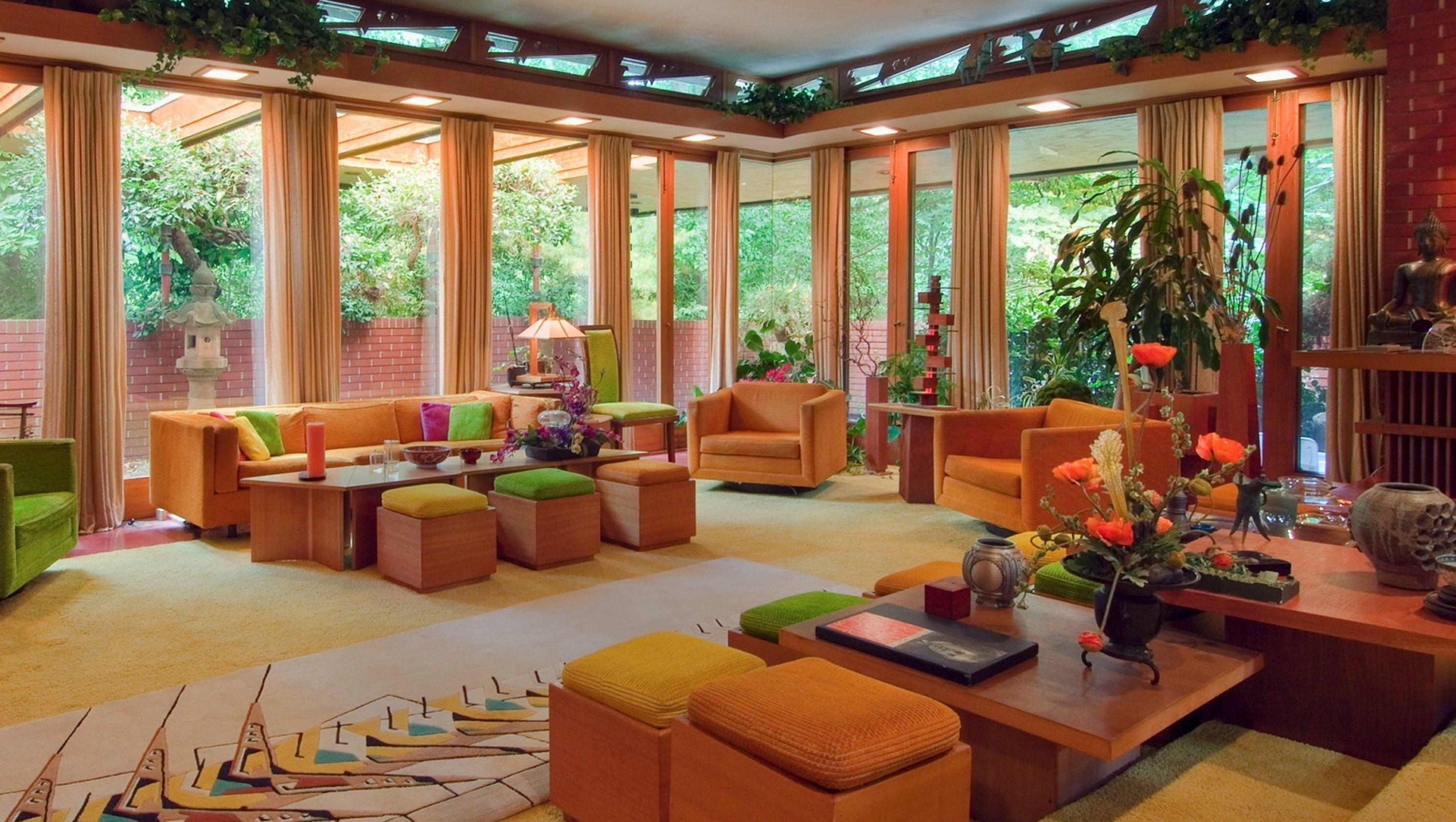 10 great frank lloyd wright home tours for 10 x 17 living room