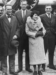 Charles and Anne Morrow Lindbergh, seen here in 1933,
