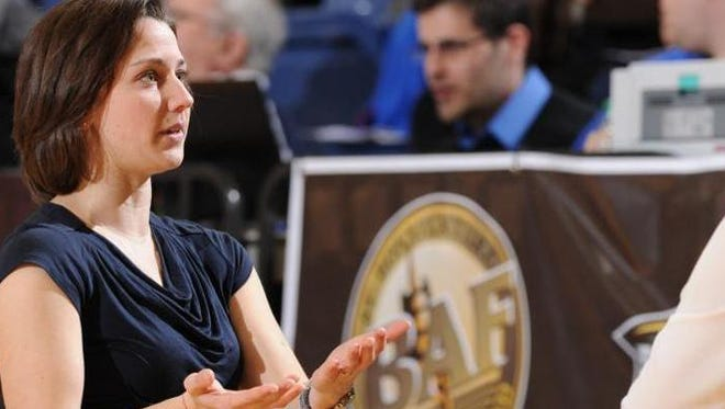Kate Achter is Xavier's newest women's basketball assistant coach. She was formerly associate head coach at St. Bonaventure.