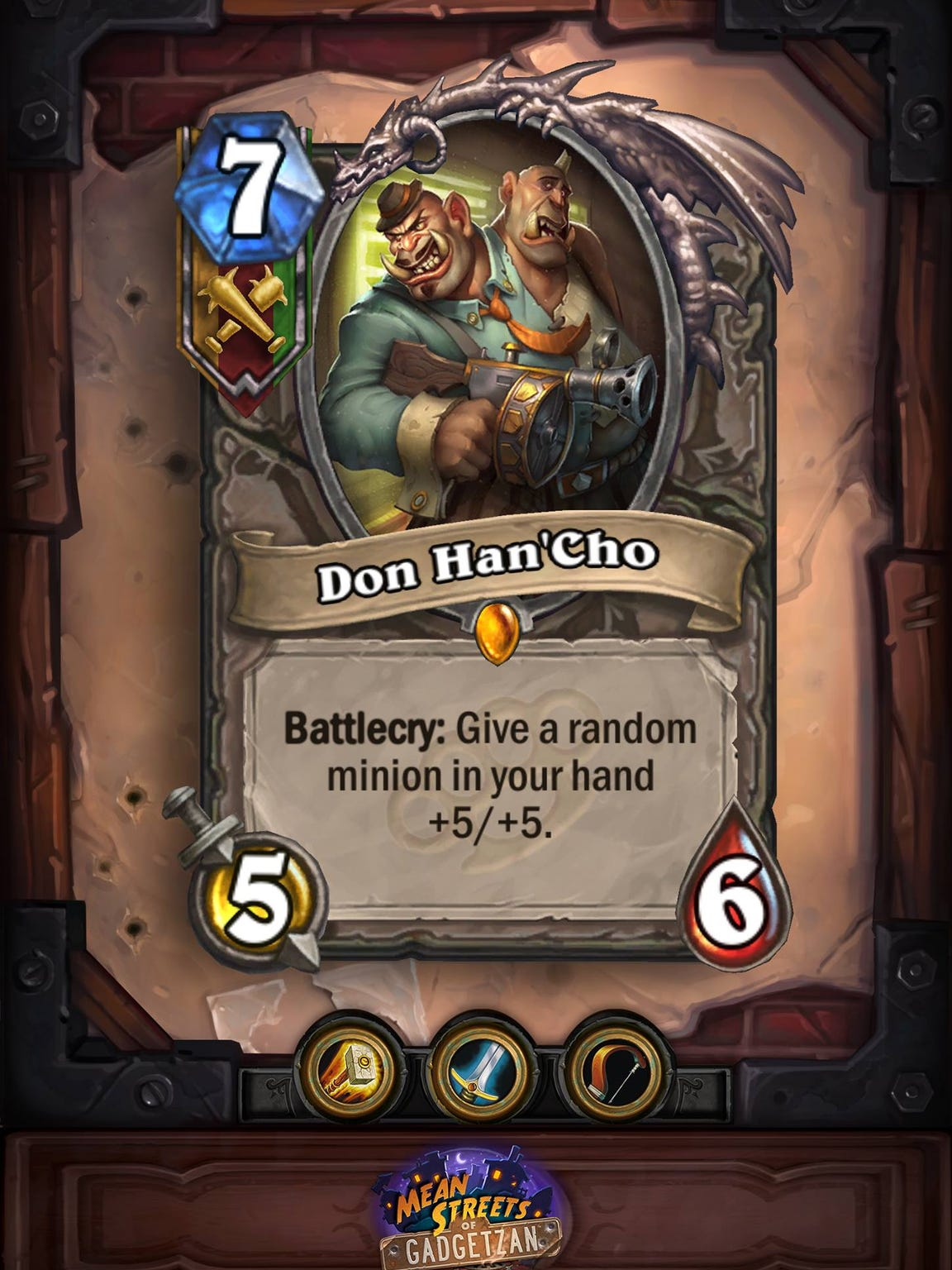 Don Han'Cho in the Hearthstone Mean Streets of Gadgetzan