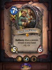 Don Han'Cho in the Hearthstone Mean Streets of Gadgetzan expansion.
