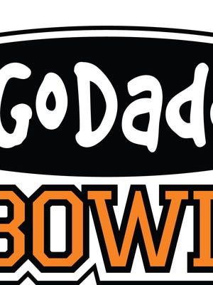 File photo taken in 2013 shows GoDaddy Bowl logo.