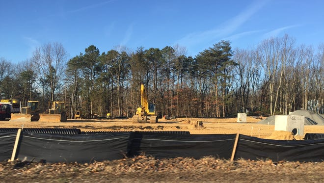 Construction has begun on two office buildings on Route 34 in Wall Township.