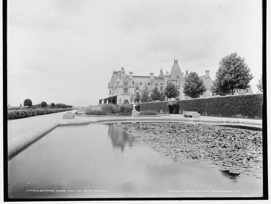 Biltmore House from the south terrace, 1902.