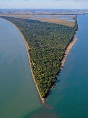 An aerial view of Point Pelee, Canada's southernmost