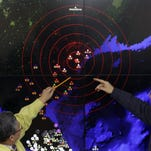 A screen showing seismic waves from North Korea on Jan. 6, 2016, in Seoul.