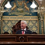 Michigan Gov. Rick Snyder delivers his State of the State Address on Jan. 19, 2016.