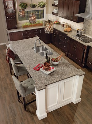 Custom cabinets offer more choices and the chance to create more drama in kitchen or bath.