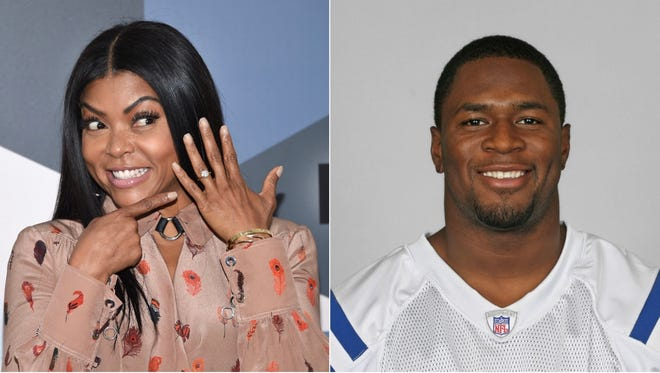"""Taraji P. Henson, a star from """"Empire"""" got engaged to former Indianapolis Colts star Kelvin Hayden on Mother's Day."""