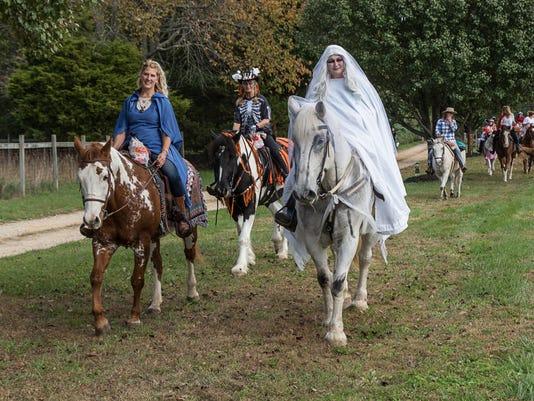 Circle D Farm Halloween parade 1