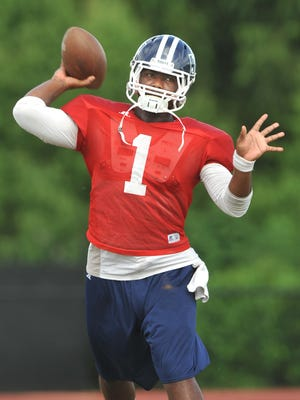 "Quarterback LaMontiez Ivy sees first ""real"" 11-on-11 action in nearly a year."